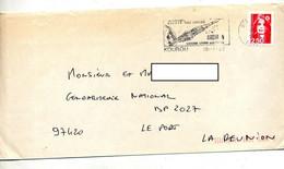 Lettre Flamme Kourou Guyane Ariane 4 Curiosité   Date - Annullamenti Meccanici (pubblicitari)