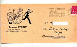 Lettre Flamme Montceau Les Mines Chateau Piscine Illustré Vetement Mariage - Annullamenti Meccanici (pubblicitari)