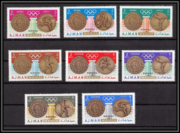 Ajman - 4640/ N°341/348 A Mexico 1968 Jeux Olympiques (olympic Games) Gold Medalists Winners Neuf ** MNH - Ajman