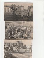 3 CARTE PHOTO:METZ (57) MILITAIRE MACHINE A COUDRE  LES TAILLEURS DU 402,LES BONS SOLDATS,GROUPE SOLDAT - Metz