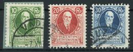 Liechtenstein 1925 85th Birthday Of Prince Johann II Issue Complete Set Used, Fault-free, MiNr. 72-74, Cat. €65 [02878] - Gebruikt