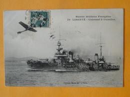 """Marine De Guerre -- Cuirassé à Tourelles  """" LIBERTE """" - 1905 - Explose à Toulon Le 25 Septembre 1911 - Guerra"""