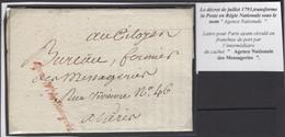 Précurseur Du 3 Messidor De L'an 3 (21 Juin 1795). Voir Les Scans Tout Est Indiqué. Avec Contenu. - 1701-1800: Vorläufer XVIII