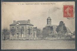 CPA 27 - Brétigny, La Mairie Et L'église - Autres Communes