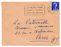 CHARENTE Mme - Dépt N° 17 = St PALAIS Sur MER 1958 = FLAMME Non Codée = SECAP ' PLAGES FORETS COTE DE BEAUTE ' - Oblitérations Mécaniques (flammes)