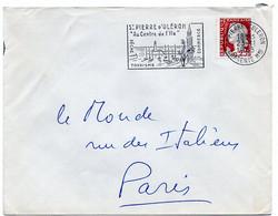 CHARENTE - Dépt N° 16 = St PIERRE D' OLERON 1963 =  FLAMME Non Codée =  SECAP Illustrée' Au Centre De L'ile ' - Oblitérations Mécaniques (flammes)