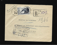 81  RECOMMANDE  PROVISOIRE TARN  ALBI - Temporary Postmarks