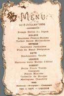 Menu De 1898 - Menus
