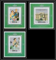 Ajman - 2671/ N° 1010/1012 Wedding Of Elizabeth 2 And Prince Philip ** MNH Deluxe Miniature Sheets Blocs 1971 - Ajman
