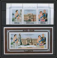 Ajman - 2672/ N° 1010/1012 A + Bloc 300 A Wedding Of Elizabeth 2 And Prince Philip ** MNH 1972 - Familles Royales