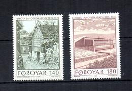 Foroyar (Danimarca) - 1979 - 150° Anniversario Della Biblioteca Nazionale - 2 Valori - Nuovi ** - (FDC31538) - Local Post Stamps