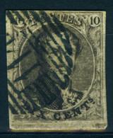 Belgique N°6-  TB - 1851-1857 Medaillons (6/8)