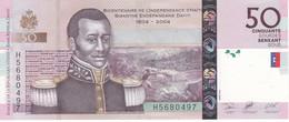 BILLETE DE HAITI DE 50 GOURDES DEL AÑO 2004 SIN CIRCULAR (UNCIRCULATED) (BANK NOTE) - Haiti
