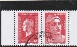 FRANCE 2015 ISSU DU CARNET LIBERATION DULAC ET GANDON OBLITERE P4991 - 4991 + 4992 - Used Stamps