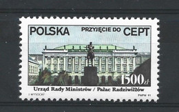 Poland 1991 CEPT Acceptance Y.T. 3123 ** - Ongebruikt