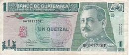 BILLETE DE GUATEMALA DE 1 QUETZAL DEL AÑO 1992 (BANKNOTE) - Guatemala