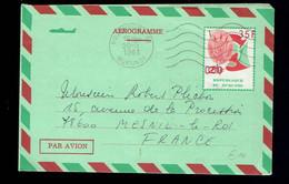 Aérogramme N°5 21 Frs Surchargé 35 Frs Bujumbura 20-5 1981 => Mesnil-le-Roi ( France ) - Altri