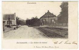 Neeroeteren - Maaseik - De Tramstatie - Tram - La Station Du Vicinal - Uitg. Hendrix, Anvers - Maaseik