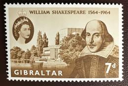 Gibraltar 1964 Shakespeare MNH - Gibilterra