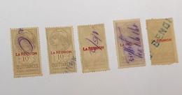 Lot De 5 Timbres QUITTANCES De LA REUNION 10c - Postage Due
