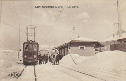 CPA  LES ROUSSES (Jura)  - La Gare – Tramway - Autres Communes