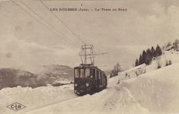 CPA  LES ROUSSES (Jura)  - Le Tram Au Sagy - Autres Communes