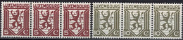 Luxembourg, Luxemburg 1930 Lion Héraldique 3 Séries Bandes Neuf MNH** Val.catalogue:24€ - Unused Stamps