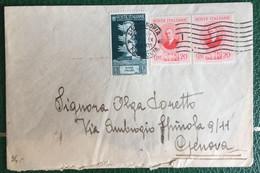 1938 - Regno - Busta Affrancata - Alessandria  Genova - Timbro Pubblicitario - 12 - Storia Postale