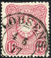 DT.REICH 1877, Nr. 33a, 10 Pfe. MIT STPL- K2 LOBSENS, MARKE MÄNGEL! - Used Stamps