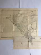 Afrique Occidentale Française. A O F. Carte Topographique. OUAKAM, Dakar,Thiaroye, Sénégal. 1943 - Topographische Karten
