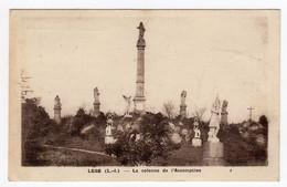CPSM Photo Legé Près De Machecoul 44 Loire Atlantique La Colonne De L' Assomption Statue Jeanne D' Arc éditeur Lollier - Machecoul