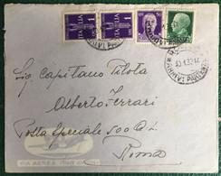 1938 - Regno - Busta Affrancata - Per Roma - 19 - Storia Postale