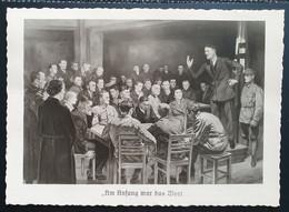 """Deutsches Reich 1940, Postkarte """"Am Anfang War Das Wort"""" MÜNCHEN Sonderstempel - Storia Postale"""