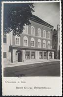 """Deutsches Reich 1939, Postkarte """"Adolf Hitlers Geburtshaus"""" BRAUNAU AM INN Zwei Verschiedene Sonderstempel - Storia Postale"""