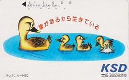 TC JAPON / 110-011 B 50 U - ANIMAL - OISEAU - CANARD ** KSD ** - DUCK  BIRD JAPAN Phonecard - ENTE - 5686 - Non Classificati