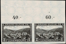 Luxembourg, Luxemburg 1935 Clervaux Paire 2Fr. Neuf MNH** Val.catalogue:40€ - Unused Stamps