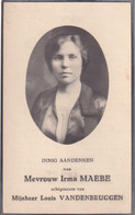 IRMA MAEBE   ZINGEM 1891   GENT 1932 - Todesanzeige