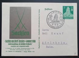"""Deutsches Reich 1938, Postkarte P269 """"Sachsen"""" LEIPZIG Sonderstempel - Covers & Documents"""