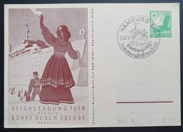 Deutsches Reich 1938, Postkarte P246 HAMBURG Sonderstempel - Covers & Documents