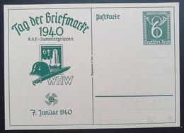 """Deutsches Reich 1940, Postkarte P288 """"Tag Der Briefmarke"""" Ungebraucht - Covers & Documents"""