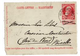 Halve Kaartbrief Leopold Grote Baard Waterloo 1900 - Non Classés