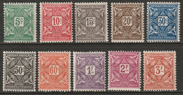 French Sudan 1931 Sc J11-20 Yt T11-20 Postage Due Set MNH** - Ungebraucht