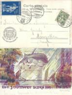 """AK  """"Eidg. Schützenfest Luzern - Löwendenkmal""""  (Sonderstempel / Vignette)            1901 - Storia Postale"""
