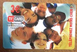 GUADELOUPE XTS TELECOM 3 EURO EKO CARD 40.000 EX PRÉPAYÉE PREPAID PHONECARD CARD QUE POUR LA COLLECTION - Antilles (French)