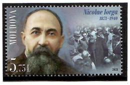 Moldova 2021 . Historian Nicolae Iorga - 150. 1v: 5.75 - Moldavie