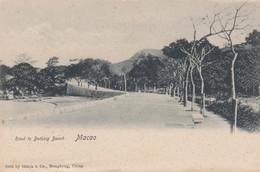 Macau Macao, Road To Bathing Beach, View Of China, C1900s Vintage Postcard - Sonstige