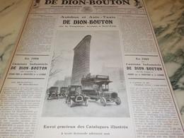 ANCIENNE PUBLICITE JOURNAL INDUSTRIEL AUTOMOBILE DE DION BOUTON 1910 - Advertising