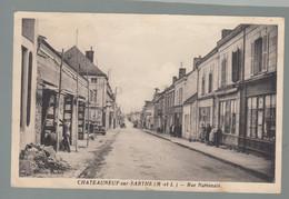CP - 49 - Chateauneuf-sur-Sarthe - Rue Nationale - Chateauneuf Sur Sarthe