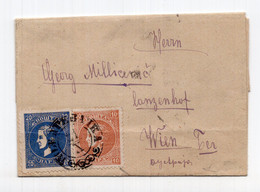 1879. SERBIA, KING MILAN 20 + 10 PARA, PERF 12, POŽAREVAČKA POSTA TO VIENNA - Serbia
