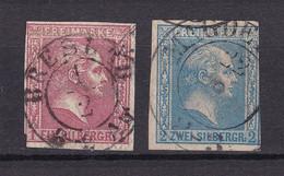 Preussen - 1858 - Michel Nr. 10/11 K2 - Gestempelt - 30 Euro - Pruisen